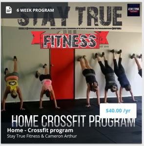 6 week crossfit home program