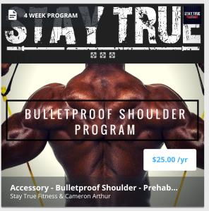 Bulletproof shoulder program
